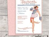 Pin Up Girl Bachelorette Party Invitations Nautical Vintage Classy Pin Up Girl Invitation Bachelorette