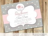 Pink and Grey Baby Shower Invites Baby Shower Invitations Hot Pink and Grey Baby Shower