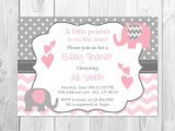 Pink and Grey Baby Shower Invites Pink and Grey Elephant Baby Shower Invitation It S A Girl