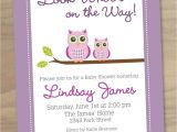 Pink and Lavender Baby Shower Invitations Baby Shower Invitation Pink Purple Baby Girl Cute Modern