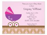 """Pink and Lavender Baby Shower Invitations Pink & Purple Baby Shower Invitation 4 25"""" X 5 5"""