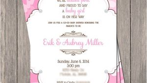 Pink Camo Baby Shower Invites Pink Camo Bling Baby Shower Invitation Printable 5 X