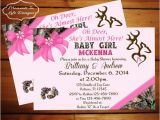 Pink Camouflage Baby Shower Invitations Peek A Boo Camo Baby Shower Invitation Girl Girl Camo