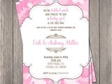 Pink Camouflage Baby Shower Invitations Pink Camo Bling Baby Shower Invitation Printable 5 X