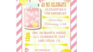 Pink Lemonade Birthday Party Invitations Pink Lemonade Birthday Party Invitations Zazzle
