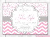Pink Purple and Gray Baby Shower Invitations Baby Shower Invitations Vintage Pink and Gray Baby Shower