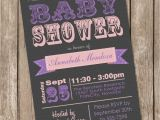 Pink Purple and Gray Baby Shower Invitations Girl Baby Shower Invitation Pink and Grey Purple Printable