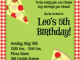 Pizza Making Birthday Party Invitation Template Pizza Birthday Party Invitation Wording Pizza Party