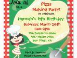 Pizza Making Birthday Party Invitation Template Pizza Making Birthday Party Invitation Card Zazzle