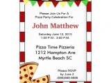 Pizza Making Birthday Party Invitation Template Pizza Party Birthday Invitation 5 Quot X 7 Quot Invitation Card