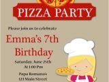 Pizza Making Birthday Party Invitation Template Pizza Party Birthday Invitation Kids Pizza Party