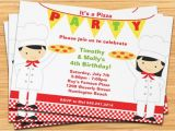 Pizza Making Birthday Party Invitation Template Pizza Party Birthday Invitations Cimvitation