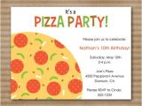 Pizza Making Birthday Party Invitation Template Pizza Party Invitation Slumber Party by