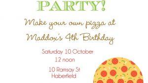 Pizza Making Party Invitation Template Pizza Party Invitation Template