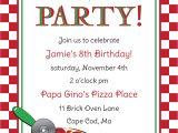 Pizza Party Invitation Template Free Pizza Party Invitation Templates