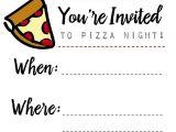 Pizza Party Invitation Template Pizza Night Invites