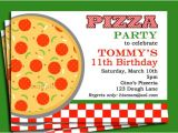 Pizza Party Invitation Template Pizza Party Invitation Printable or Printed with Free Shipping