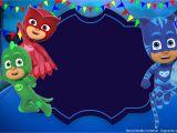 Pj Mask Birthday Invitation Template Free Printable Pj Masks Invitation Template In 2019