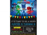 Pj Mask Birthday Invitation Template Pj Masks Birthday Party Ideas and themed Supplies