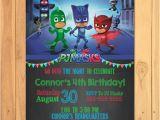 Pj Mask Birthday Invitation Template Pj Masks Invitation Chalkboard Pj Masks Birthday Pj Masks