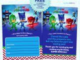 Pj Mask Birthday Invitation Template Pj Masks Invitation Printable Free