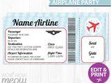 Plane Ticket Wedding Invitation Template Free Airline Ticket Invitation Template Free orderecigsjuice Info