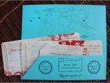 Plane Ticket Wedding Invitation Template Free Hawaii and Hong Kong Antique Boarding Pass Wedding