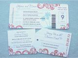 Plane Ticket Wedding Invitation Template Free Wordings Airline Ticket Wedding Invitation Template Free
