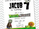 Plants Vs Zombies Party Invitation Template Plants Vs Zombies Birthday Invitation by Inkchickdesigns
