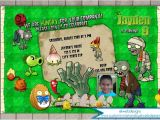 Plants Vs Zombies Party Invitation Template Plants Vs Zombies Birthday Invitation