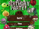 Plants Vs Zombies Party Invitation Template Plants Vs Zombies Birthday Invitation Plants Vs Zombies