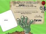 Plants Vs Zombies Party Invitation Template Plants Vs Zombies Birthday Photo Invites Templates