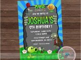 Plants Vs Zombies Party Invitation Template Plants Vs Zombies Invitation Plants Vs Zombies Birthday