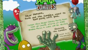 Plants Vs Zombies Party Invitation Template Plants Vs Zombies Party Invitation Digital Download