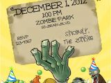 Plants Vs Zombies Party Invitation Template Zombie Party Invitation Templates