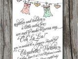 Poems Bridal Shower Invitations Lingerie Bridal Shower Invitation