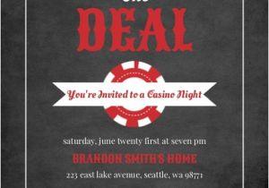 Poker Party Invitation Template Free Black and Red Casino Chips Casino Night Invitation Poker