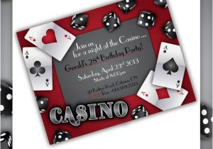 Poker Party Invitation Template Free Casino Party Invitations Gamble Love by Blackcherryprintable