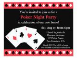 Poker Party Invitation Template Free Poker Game Night Housewarming Party Invitations Zazzle Com
