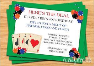 Poker Party Invitation Template Free Poker Party Invitation