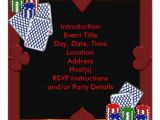 Poker Party Invitation Template Free Poker Party Invitation Template Zazzle