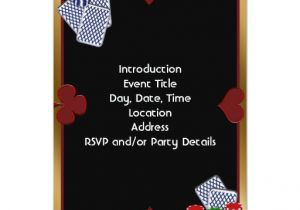 Poker Party Invitation Template Free Poker Party Invitation Template Zazzle