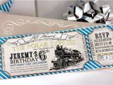 Polar Express Party Invitation Template Free Polar Express Birthday Invitation Instant Download Etsy