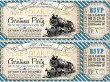Polar Express Party Invitation Template Free Polar Express Christmas Party Invitation Blue Sassaby