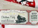 Polar Express Party Invitation Template Free Polar Express Christmas Party Invitation Instant Download