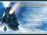 Polar Express Party Invitation Template Free Polar Express Pajama Party Invitation