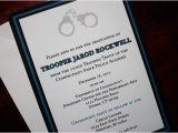 Police Academy Graduation Invitation Wording Thin Blue Line Police Academy Graduation Announcement or