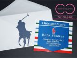 """Polo Baby Shower Invitations Horsemen """"polo"""" theme Invitation Card with Envelope sold"""