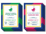 Polo Baby Shower Invitations Printable Navy Green Pink Polo Invite or Menu Personalized