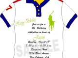 Polo Baby Shower Invitations solutions event Design by Kelly Custom Made Polo Shirt
